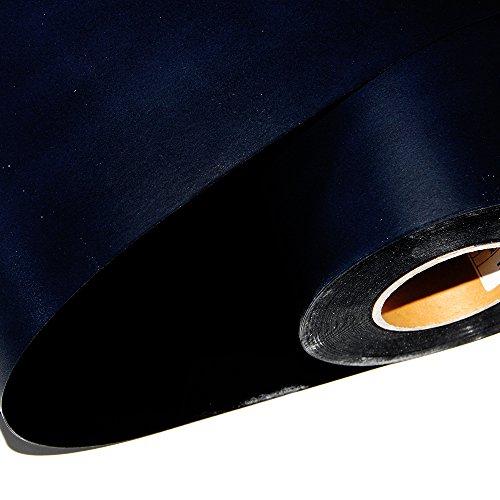 [Hoho] Flock Wärmeübertragung Blatt Tapes Rollen Vinyl Papier für T-Shirt-Stoff (50,8x 101,6cm) schwarz