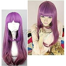 Cosplaza - Peluca larga de color morado para cosplay de estilo «Lolita Girl»