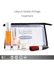 Lebyutí Anti-Aging Global Treatment with Pure Hyaluronic Acid Serum 50ml + Anti-wrinkle cream 50ml + 30ml Eye Contour. Hydrates and rejuvenates your skin. GIFT toiletry bag + Makeup Brush