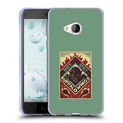Official Lantern Press Spicy Man Cave Soft Gel Case for HTC U...