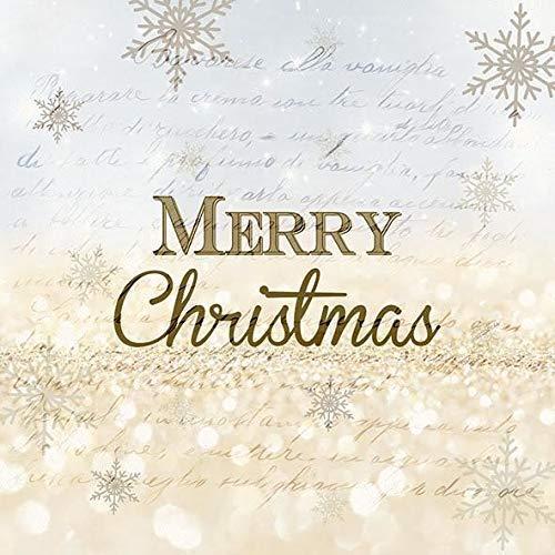 Blau Gold Fröhliche Weihnachten Schrift Schneeflocke 13