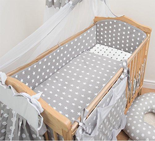 10-teiliges Baby Bettwäsche Set 140x70cm 4-seitig Kinderbett Schutz - Muster 21