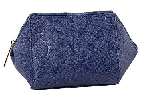 Beauty borsa porta cosmetici PIERRE CARDIN pochette porta trucco blu T389