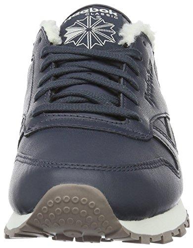 Reebok Classic Sherpa Pack, Sneakers Basses Femme Bleu foncé (Smokey Black/Chalk/Moondust)