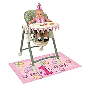 Rosa Luftballons 1st Birthday High Chair Dekorieren Kit