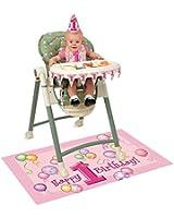 Pink Balloons 1st Birthday High Chair Decorating Kit