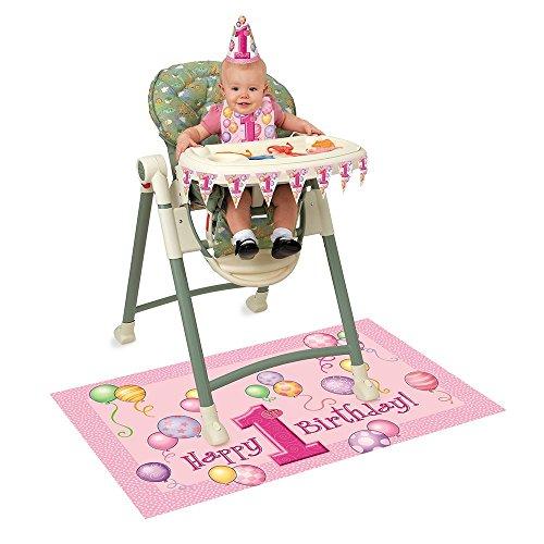 Für Ideen Dekorationen Party (Dekorations-Set zum 1. Geburtstag für den Hochstuhl mit pinken)