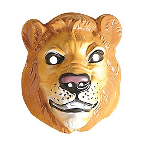 Löwen Maske Löwenmaske braun Löwe Maske Löwemaske Tiermaske Raubkatze Kostüm Zubehör (Löwe Maske Kostüme)