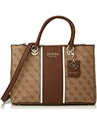 Guess Borsa donna mano/tracolla Cathleen status carryall brown 3 comp. B21GU09