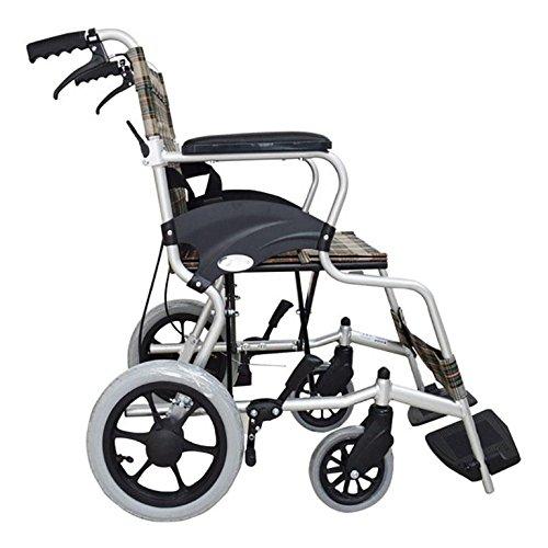 GUO Aluminium Rollstuhl Leichtgewicht Falt Rollstuhl reisen (Falt-rollstuhl)