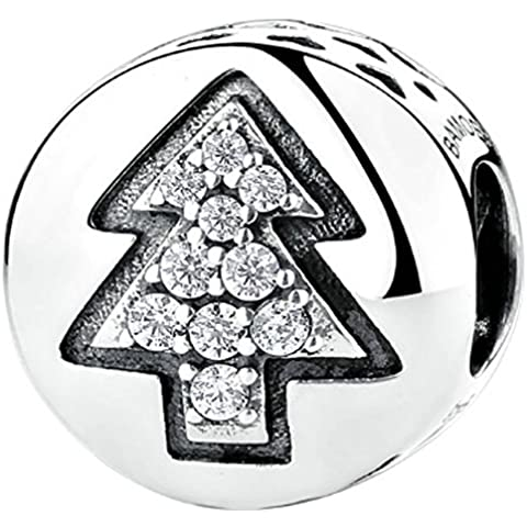 SaySure - 925 Sterling Silver Christmas Tree Charm Beads