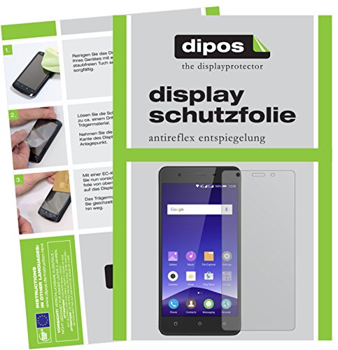 dipos I 2X Schutzfolie matt passend für Mobistel Cynus F10 Folie Bildschirmschutzfolie