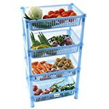 NOVICZ 4 Layer Kitchen Rack Stand Fruits...