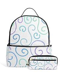 Preisvergleich für Fantazio Rucksäcke und Bleistift Tasche Gold Schulranzen Set Polyester Tagesrucksack mit Reißverschluss für Mädchen...