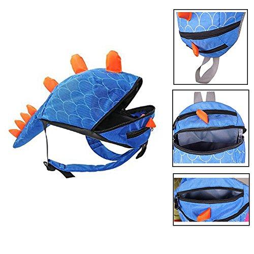 Imagen de fristone  para niños / dinosaurio pequeña bebes guarderia bolsa con arneses de seguridad,azul alternativa