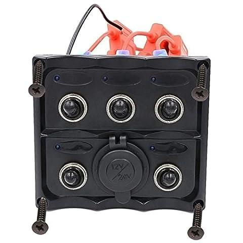 Interrupteur à bascule, hansee IP665Gang Panneau LED voiture auto Bateau Marine étanche Interrupteur à bascule disjoncteur électrique
