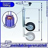 Winterhoff Stützrad Bugrad mit Drucklager 150kg 48er Aufnahme für Pkw Anhänger