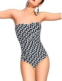 Tweka Maillot de bain Big Stripe' - Une pièce, à porter avec ou sans bretelle