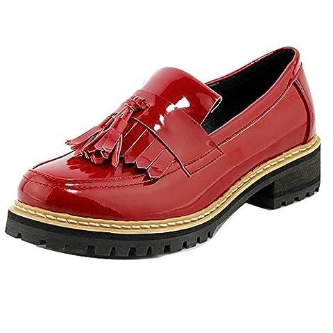 Ladola Dgug00322, Chaussures à lacets femme - rouge - bordeaux,