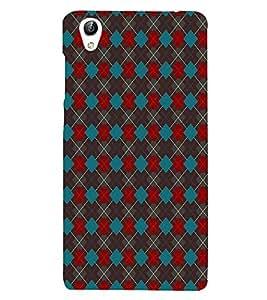 HiFi Designer Phone Back Case Cover Vivo Y51 :: VivoY51L :: Vivo Y51L Light up your Selfies ( Red Blue Diamond Pattern Design )