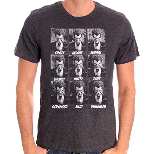 erren T-Shirt - Joker Emotions (Grau) (S-XL) (XL) (Harley Quinn Kostüm Hoodie)