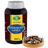 Gewürz Nelken Kapseln, 180 Kapseln je 400mg rein natürliches Pulver, ohne Zusatzstoffe