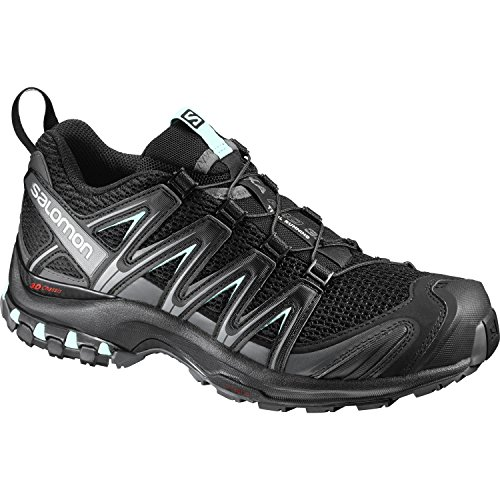 Salomon XA Pro 3D Damen Traillaufschuhe, Black/Magnet/Fair Aqua, 38 2/3 EU (Xa Salomon Pro)
