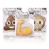 Emoji Fresh 3Packungen (6Lufterfrischer) X Offizielles Car Jar Auto KFZ-Lufterfrischer Zum Aufhängen, Affe, Poop, B
