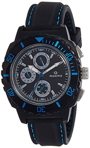 Maxima Hybrid Collection Analog Black Dial Men's Watch - 30771PPGN image