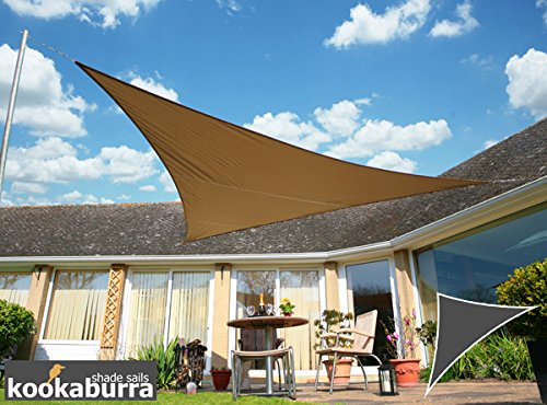 Voile d'Ombrage Mocha Triangle Rectangle 4,2m - Imperméable - 160g/m2 - Kookaburra