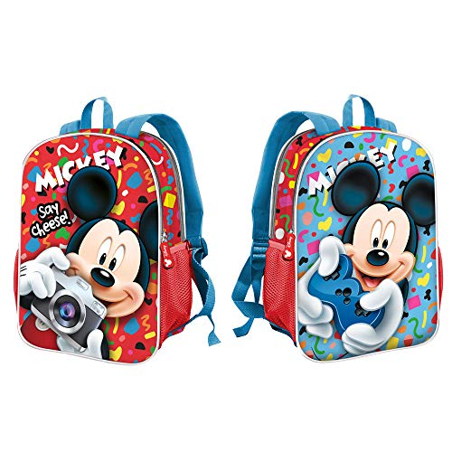 Karactermania Mickey Mouse Say Cheese-mochila Dual (pequeña) Zainetto per bambini 32 centimeters 9.25 Multicolore (Multicolor)