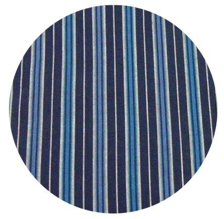 Gestreiftes Nachthemd aus reiner Baumwolle - Marine - Herren Marine