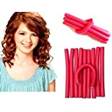 Imported 10 Pieces Self Holding Hair Curling Flexi Rods Roller Curler Hair Sticks Hair Pin