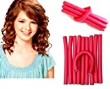 SHAFIRE™ 10 pieces self holding Hair Curling Flexi rods Magic Air Hair Roller Curler Bendy Magic Styling Hair Sticks hair pin color may vary