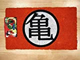 Pyramid Felpudo Turtle Gym Doormat Dragon Ball Official Merchandising Referencia DD Textiles del hogar Unisex Adulto, Multicolor, 40 x 60 cm