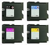 INK MASTER - Set 4 Cartuccia Compatibile RICOH GC31 CMYK per RICOH GX E2600 E3300N E3350N E5550N E7700N E3300 E3350 E5550 E7700 GELSPRINTER