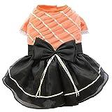 Bild: Doggy Dolly D360 Abendkleid für Hunde orangeschwarz Größe  L