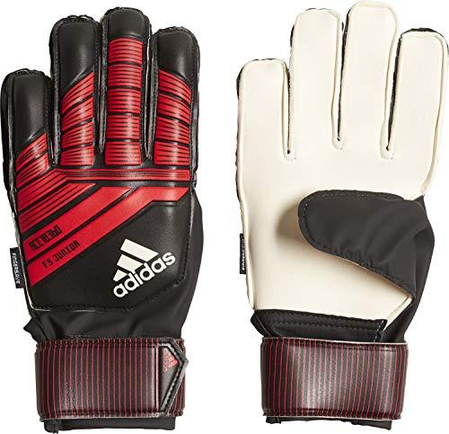 adidas Unisex– Kinder Predator Fingersave Junior Torwarthandschuhe, Black/Red/White, 6.5