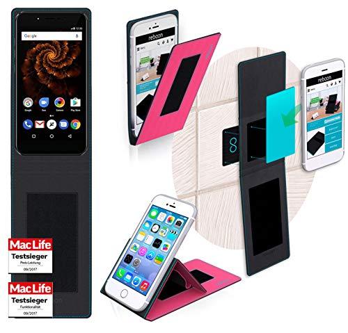 reboon Allview X4 Soul Mini Hülle Tasche Cover Case Bumper | Pink | Testsieger