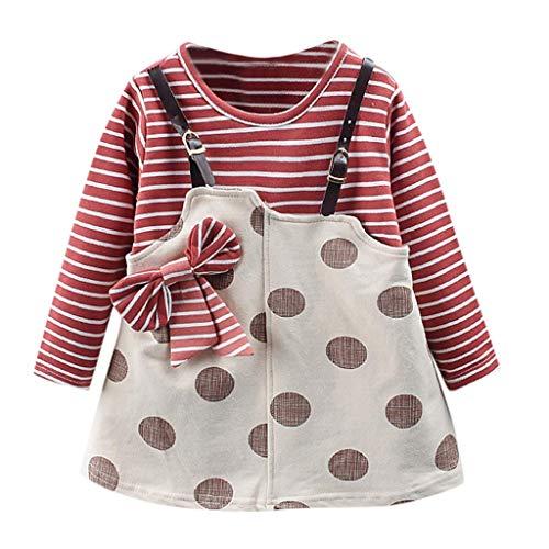 Polka Kostüm Strumpfhose Dot - Unbekannt  Allence Kinderkleidung, Kindermode Baby Mädchen Prinzessin Kleid Langarm Polka Dot Kleid mit Bowknot (6M-24M)