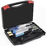 INTEY Kit De Soldador 6-en-1 Con Soldadura De Temperatura Ajustable Pistola De Soldar 60 W 110 V Ideal Para Hobbies, Kits, Radios y la Electrónica