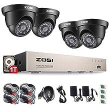 ZOSI 720P CCTV Kit de Vigilancia 8CH 4 en 1 TVI/CVI/AHD/