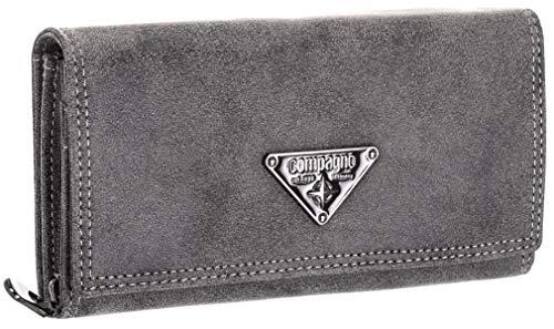 Kollektionen Handtaschen Aus Leder (Compagno Damen Geldbörse klassisch faltbar unifarben Portemonnaie Geldbeutel, Geldbeutel Farbe:Anthrazit)