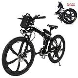 Generic Befied Elektrofahrrad 26 Zoll Faltende E-Bike Klapprad E-Faltrad 30km/h Li-Ion Akku Hinterradbremse Spannung: 36V/250W (26zoll-Schwarz)