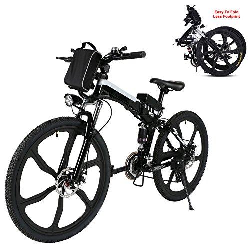 Generic Befied Elektrofahrrad 26 Zoll Faltende E-Bike Klapprad E-Faltrad 30km/h Li-Ion Akku Hinterradbremse Spannung: 36V/250W (26zoll-Schwarz)*
