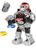 GBL® Ferngesteuerter Roboter - Feuert Scheiben, tanzt, spricht - Super unterhaltsamer RC Roboter