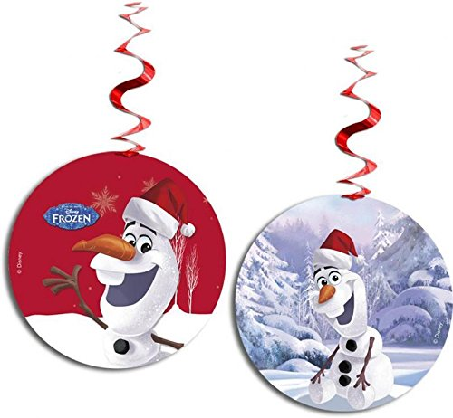Unique Party zum Aufhängen Swirl Disney Frozen Olaf Weihnachtsschmuck, 3Stück (Frozen Badematte)