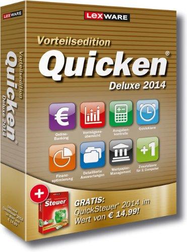 Lexware Quicken Deluxe 2014 Vorteilsedition – Ihr persönlicher Finanzmanager (Version 21.00) inkl. QuickSteuer 2014