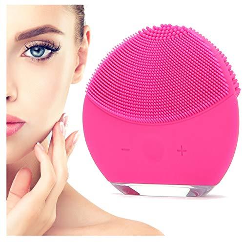 Spazzola Pulizia Viso Elettrica 2a Generazione Impermeabile in Silicone Massaggiatore Viso Skin Care Bellezza Viso Massaggio Esfoliante Antirughe Pulisce Sotto Pelle Scrub Viso Occhiaie (Fuxia)