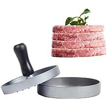 Hamburguesas de aluminio prensa prensa hamburguesa Patty molde ideal para barbacoa parrilla antiadherente, Picnic,